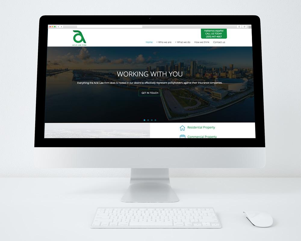 pagina web en desktop