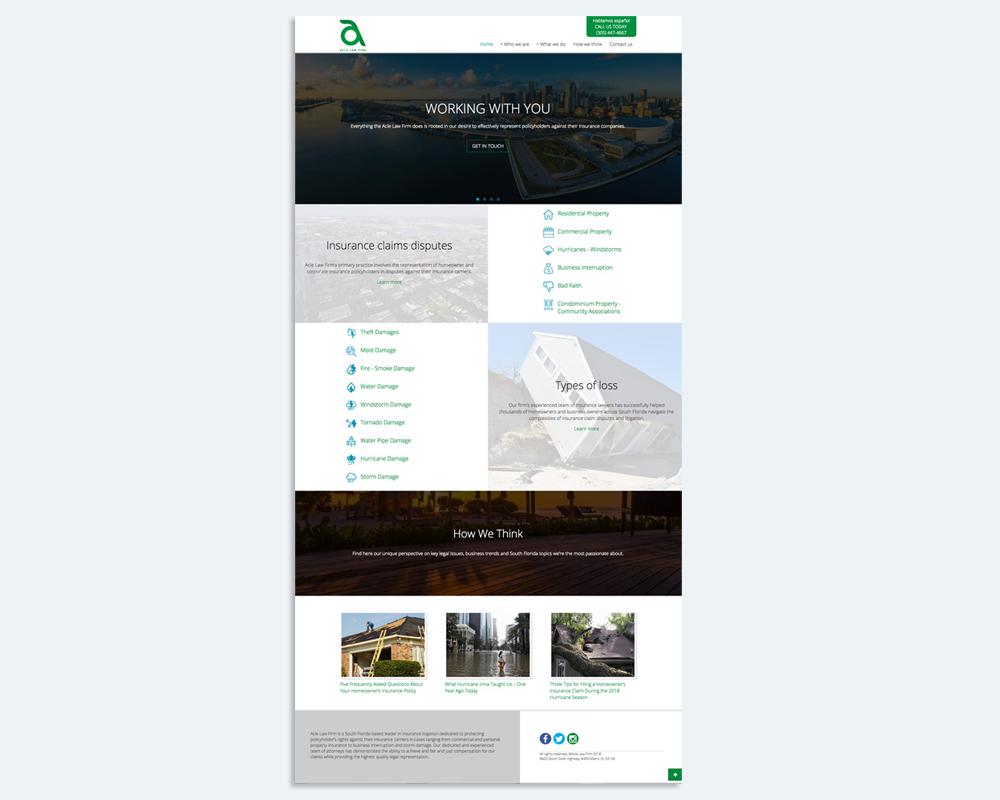 diseño pagina de incio de sitio web