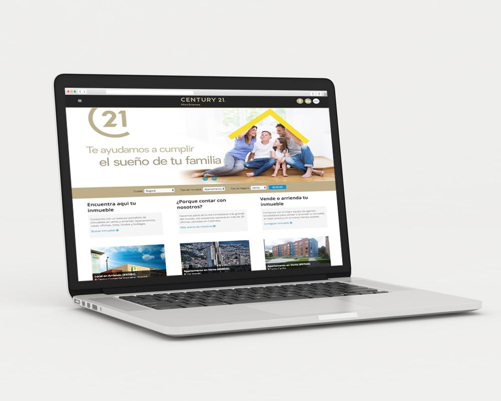 diseño de pagina web para inmobiliaria