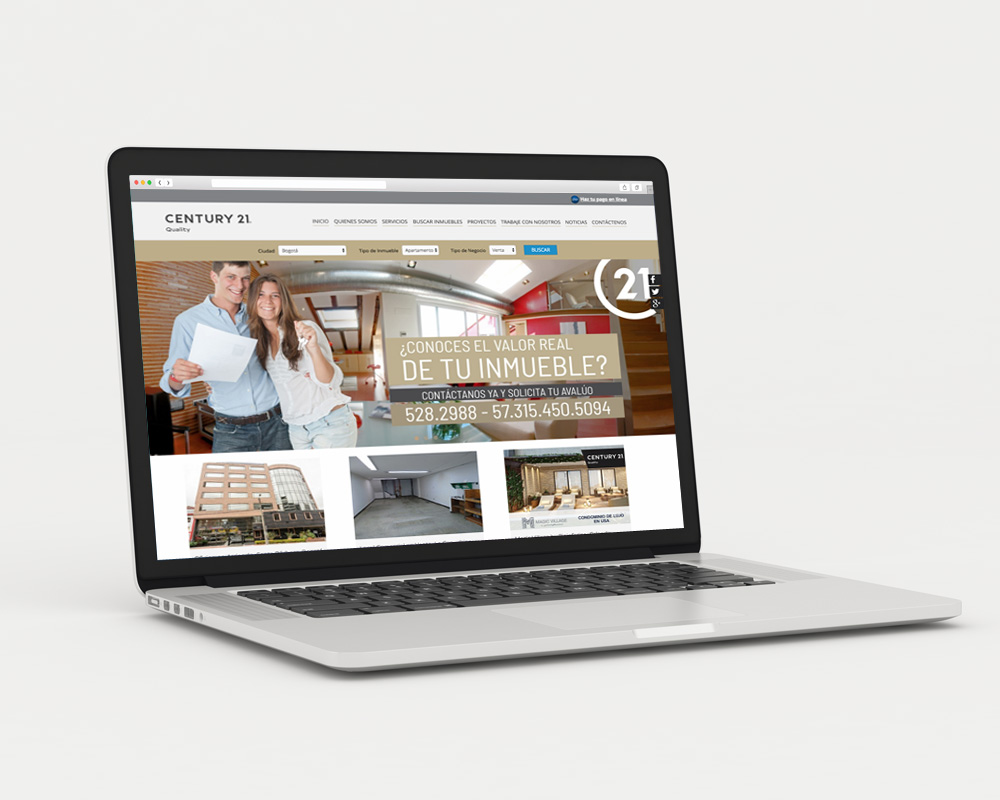 diseño sitio web en portatil