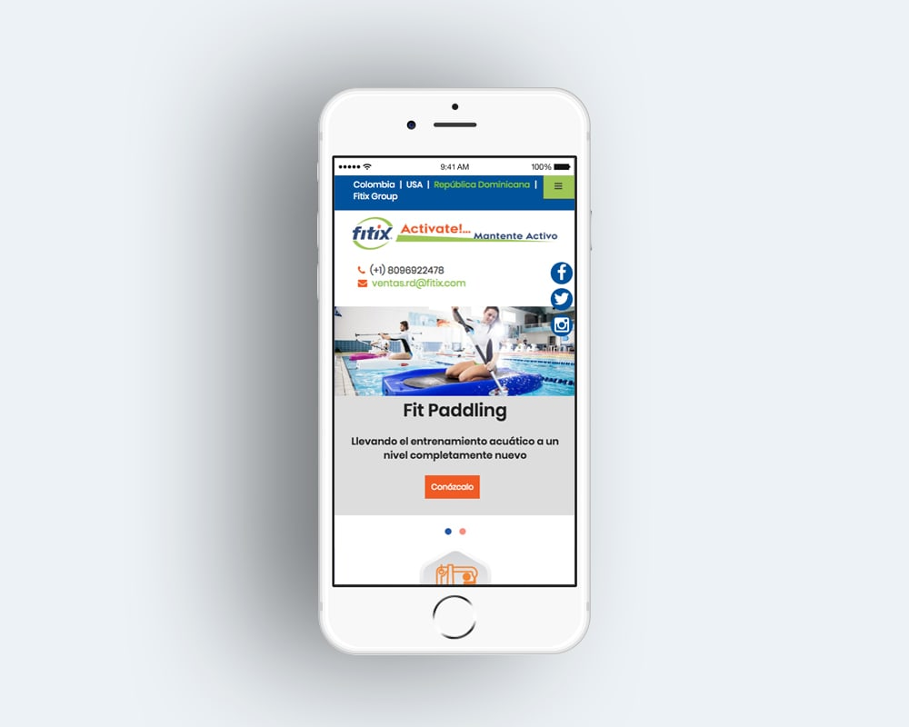 sitio web en dispositivo movil